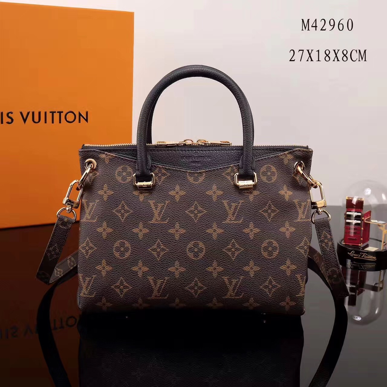 dc310e37d62 LV Louis Vuitton Monogram Pallas BB Shoulder Handbags M42960 bags Black