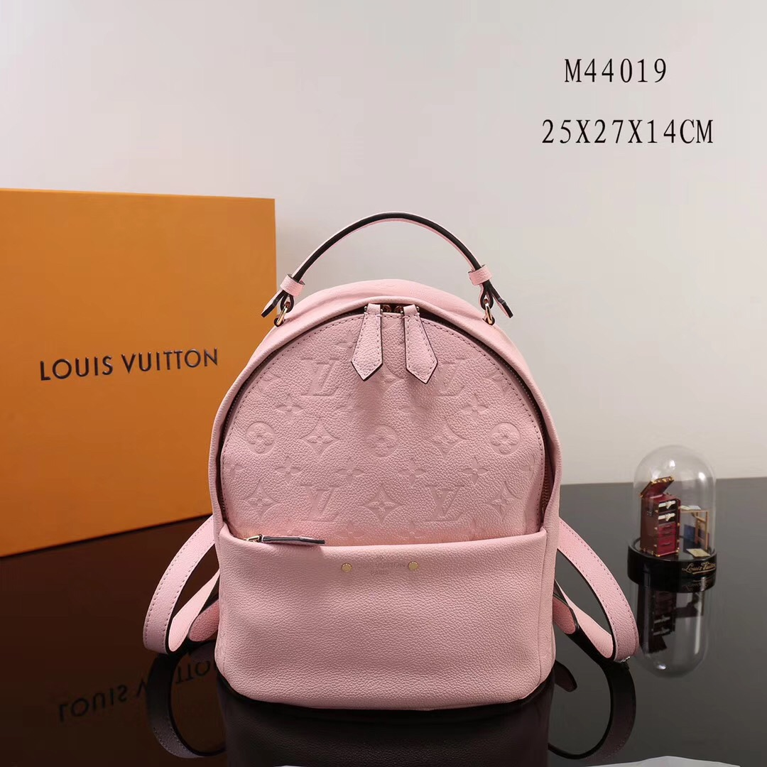 bacb0b9a9a58 LV Louis Vuitton Monogram Sorbonne Backpack M44019 bags Real Leather  Handbags Pink