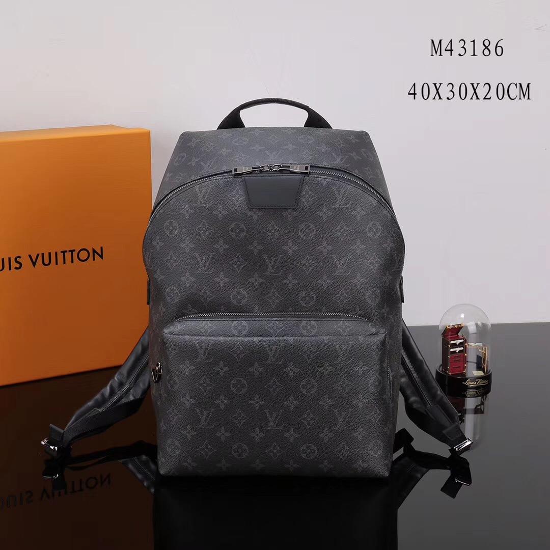 3e87f666bccd Men LV Louis Vuitton Monogram Apollo bags Backpack M43186 Handbags Gray ...