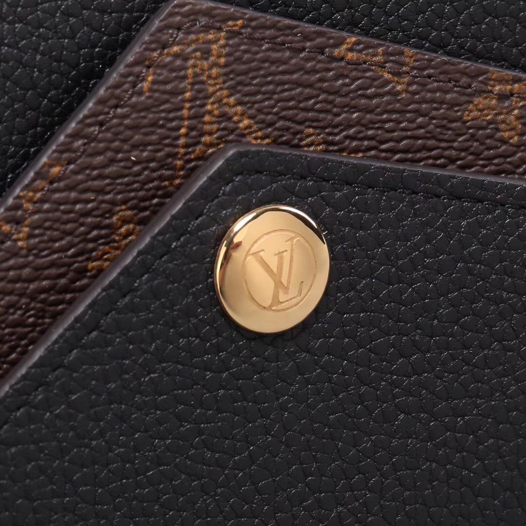 sale retailer 6c7aa 41b72 LV Louis Vuitton Monogram Double V Wallet Purse Leather bags M64319 Clutch  Black