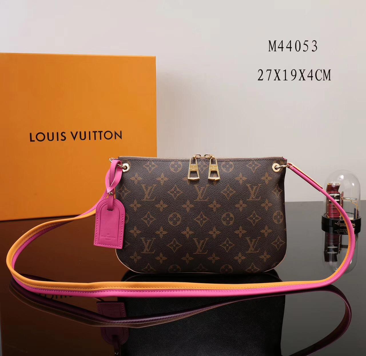 2e30b662bb7c LV Louis Vuitton Monogram M44053 Small bags Shoulder Zipper Handbags Pink  ...