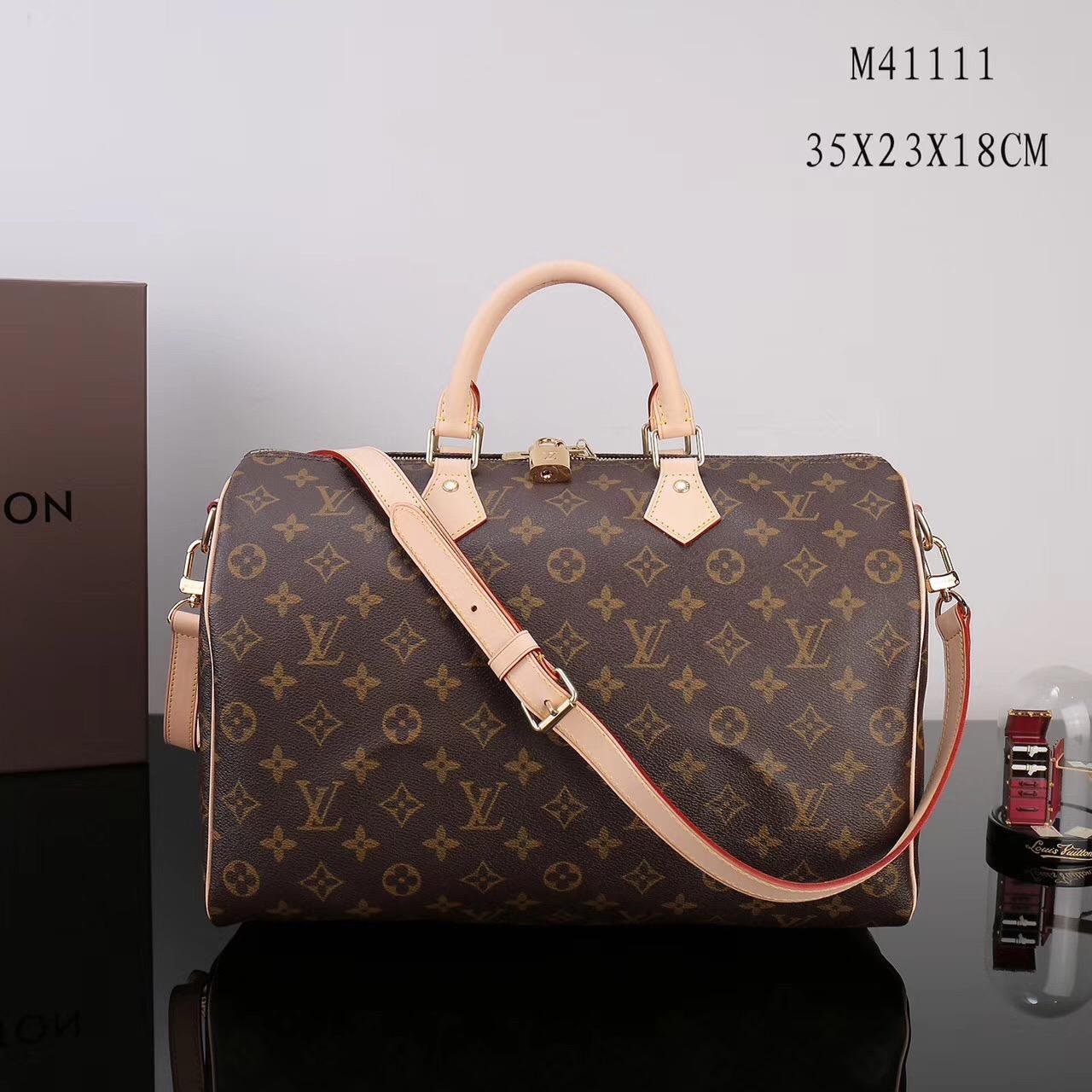 05fc4ed0f806 LV Louis Vuitton Speedy 35 Monogram bags M41111 Handbags Brown