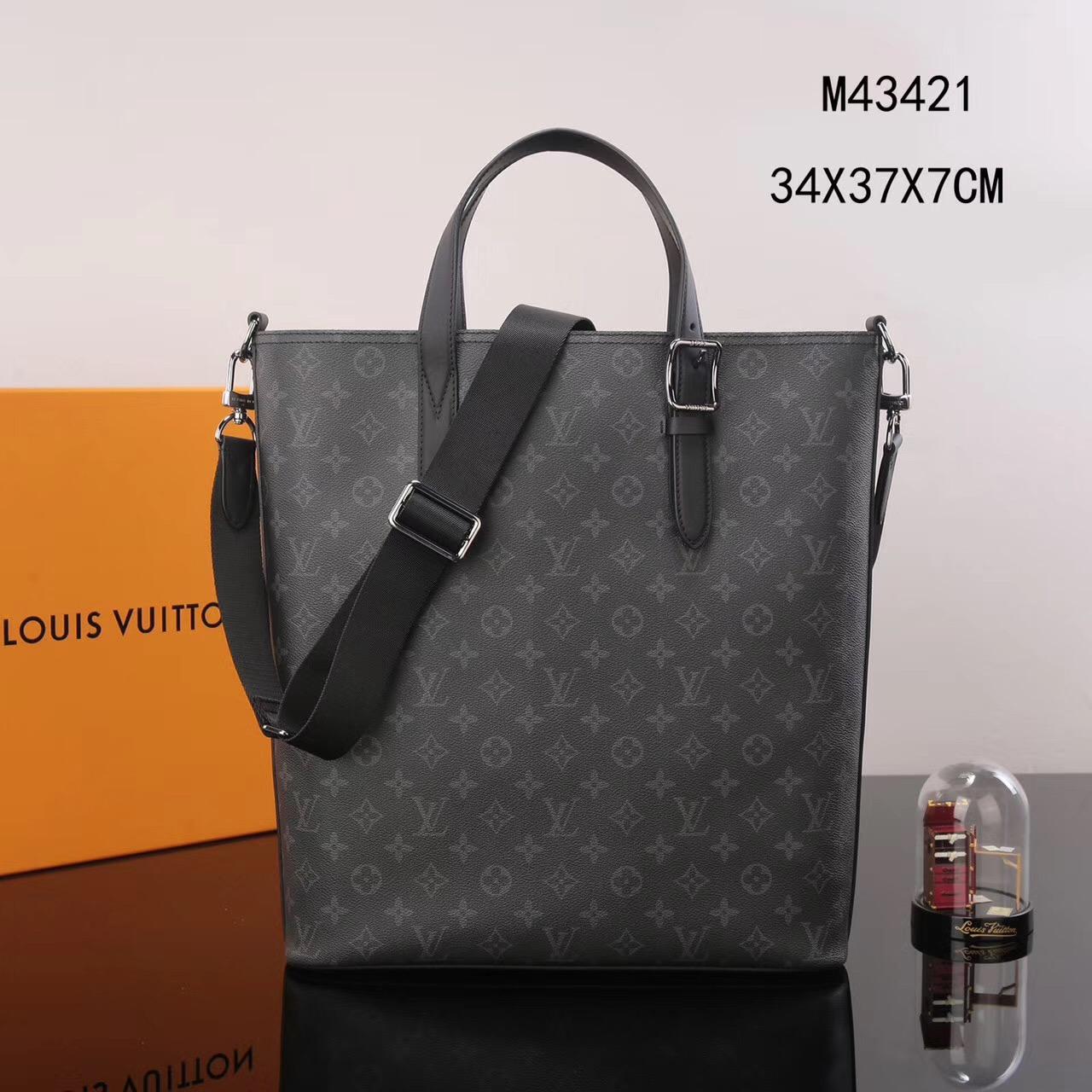 713bd0e76f43 Men LV Louis Vuitton M43421 Apollo Damier Tote Handbags bags Gray