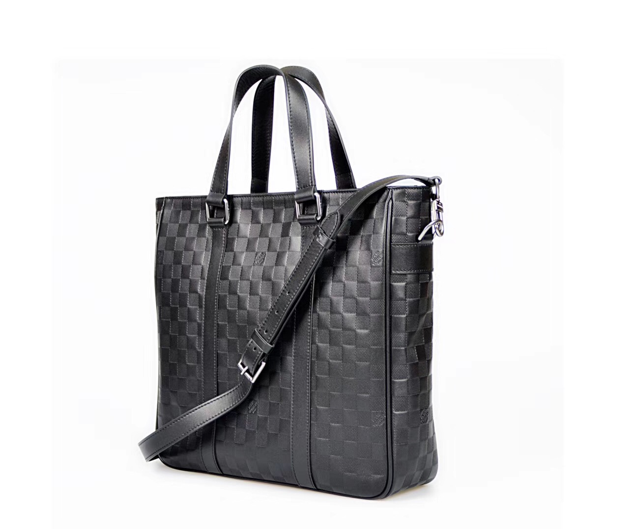 99c2ba53dc48 ... Men LV Louis Vuitton Damier Tote Leather Handbags N41269 bags Black ...
